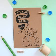 personalised daddy bear birthday card by miss shelly designs