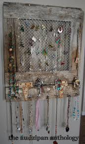 Jewelry Wall Hanger Chicken Wire Frames Diy Repurposed Thrift Store Find Chicken