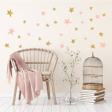 gold and pink star wall stickers for baby child bedroom or nursery gold and pink star wall stickers for bedroom nursery child s baby s room playroom easy peal