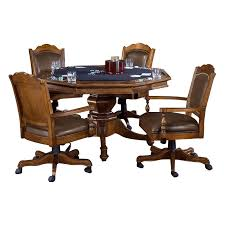 Poker Table Chairs Hillsdale Nassau 5 Piece Poker Table Set 6060gtbc