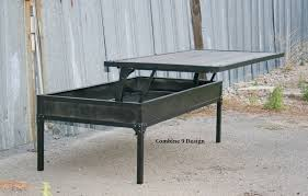 Adjustable Side Table Buy A Custom Adjustable Height Coffee Table Lift Top Modern