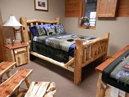 Cabin Bedroom Furniture Sets by Red Cedar Queen Bed Aspen Log Furniture Bedroom Rustic Complete