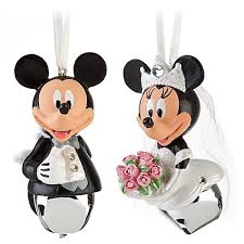 disney mickey groom minnie wedding bell ornament