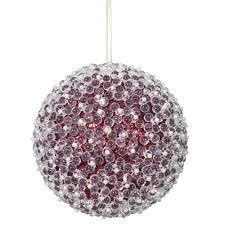 vickerman n161004 green acrylic beaded ball ornament 10 in