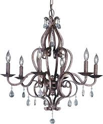 Candle Style Chandelier Feiss Mademoiselle 6 Light Candle Style Chandelier U0026 Reviews