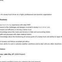 Truck Driving Resume Sample by Well Qualified Truck Driver Resume Sample Emphasizing Driving