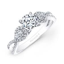 twisted shank engagement ring 14k white gold white twisted shank engagem