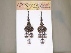 Black Bead Earrings Bronze Chandelier Long Bohemian Chandelier Earrings Bronze Turquoise Patina Boho
