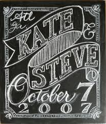 in progress chalkboard wedding sign katesmithletters com