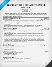 respiratory therapist resume exles free resume respiratory therapist resume httpresumecompanion with