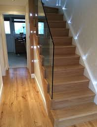 Glass Banisters For Stairs Wooden Stair Cases U0026 Glass Banisters With Ferns Joinery In Glasgow