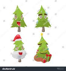 christmas tree cartoon fun character vector stock vector 519457813
