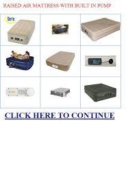 raised air mattress with built in pump raised air mattress with