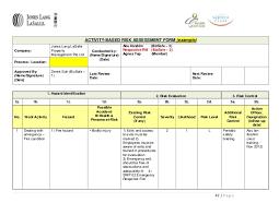 risk assessment form sample 585539 it risk assessment template