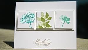 stin up birthday card using summer silhouettes