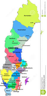Map Sweden Sweden Map On A White Background Royalty Free Stock Photography