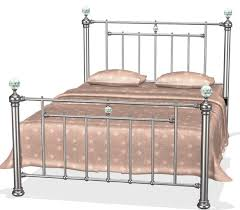 Double Metal Bed Frame Bella Designer Black Nickel Bed Frame In Double 4ft6 With