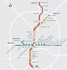 Green Line Metro Map by Marta