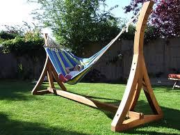columbian solid teak hammock stand u0026 fabric hammock