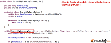 Map In Java How To Create A Simple In Memory Cache In Java Lightweight Cache