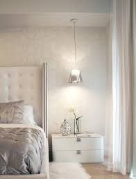 silver nightstand bedroom contemporary with bed ceiling light