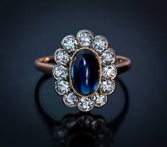 engagement rings antique vintage engagement ring sapphire and russian ring