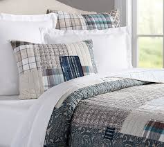 Small Single Duvet Malibu Patchwork Quilt U0026 Sham Pottery Barn