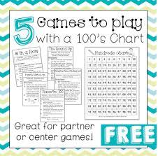 printable hundreds chart free 5 games to play with a hundreds chart math chart and plays