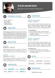 contemporary resume templates free 28 images free modern