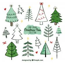 Drawn Christmas Tree Vector
