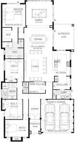 Single Floor Plan by The Majestic Four Bed Narrow Home Design Plunkett Homes