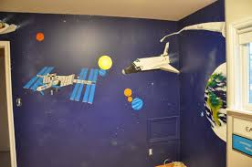 bedroom archives real women drive stick the main wall before final installation desiree painted the solar system as it appeared on the night he was born