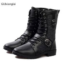 mens leather riding boots for sale 2017 fashion sale men autumn winter biker leather motorcycle