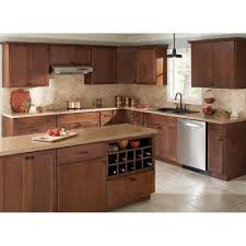 Kitchen Wall Cabinets Home Depot Hampton Bay 30x36x12 In Shaker Wall Cabinet In Cognac Kw3036 Scog