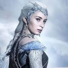 ice queen the huntsman winters war hd desktop wallpaper