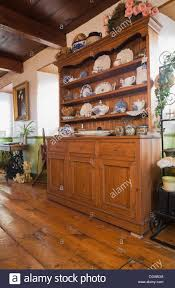 dresser in the dining room of an old circa 1850 canadiana cottage