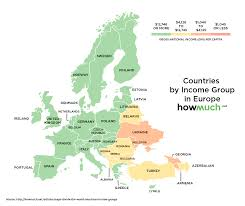 europe map by country these maps divide the world into four income groups