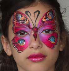 red butterfly face painting by nurit pilchin face paint