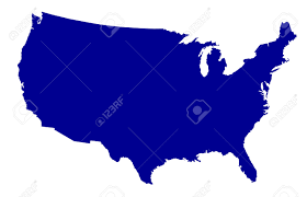The United States Of America Map by An Outline Silhouette Map Of The United States Of America Over
