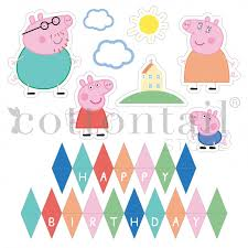 peppa pig u0027 personalizable printables cake toppers cottontail
