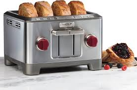 Energy Star Toaster Wolf Wgtr104s Countertop Toaster With 4 Slice Capacity Frozen
