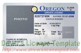 oregon drivers license template oregon drivers license or
