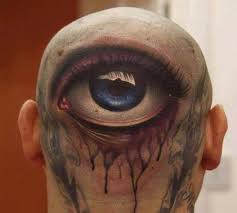 giant 3d eye tattoo head ideas tattoo designs
