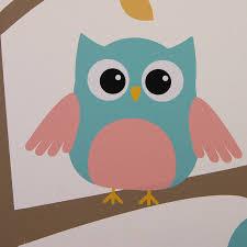 owl tree wall stickers by parkins interiors notonthehighstreet com owl tree pastel