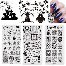 halloween plaques comparer les prix sur stamping nail art plate online shopping