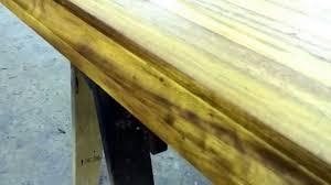 wood kitchen island top distressed iroko youtube