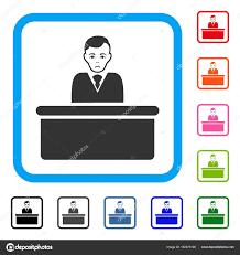 probleme icone bureau commis de bureau encadré dolor icône image vectorielle ahasoft