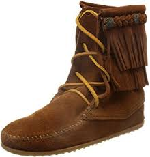 womens fringe boots canada amazon com minnetonka s fringe side zip boot