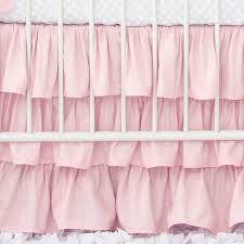 Solid Pink Crib Bedding Light Pink Solid Ruffle Crib Skirt Crib Skirts Baby Bedding And