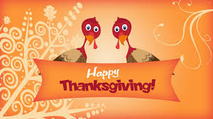 two turkeys wishing you happy thanksgiving wallpaper